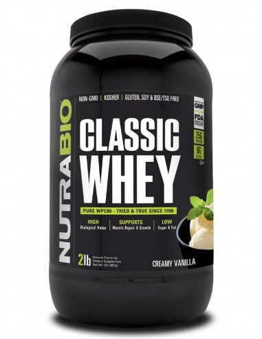 Classic Whey Protein (WPC80) NutraBIO - 1