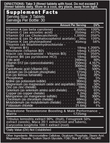 Multi Vitaminas + Testo BlackStone Labs - 2